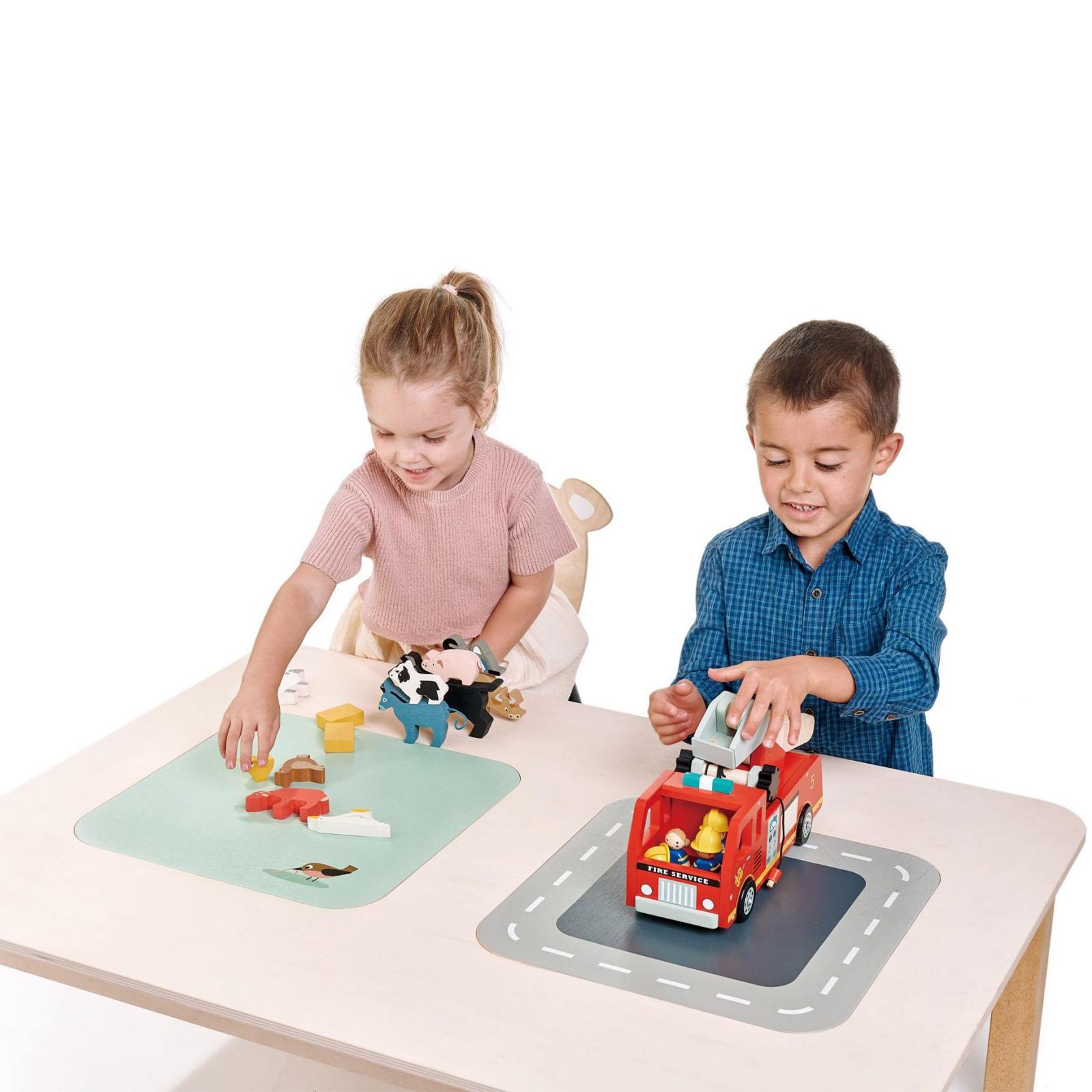 Masuta de joaca pentru copii, cu doua zone depozitare jucarii