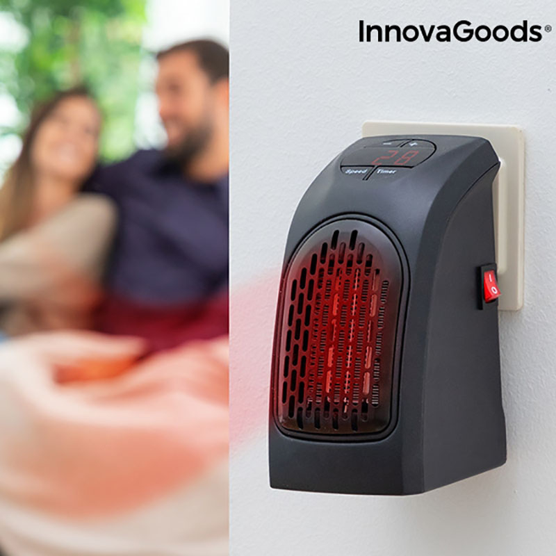 Mini radiator ceramic de priza cu termostat reglabil
