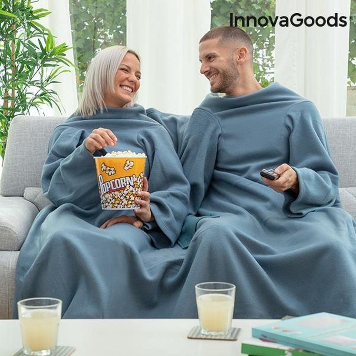 Patura cu maneci pentru cupluri