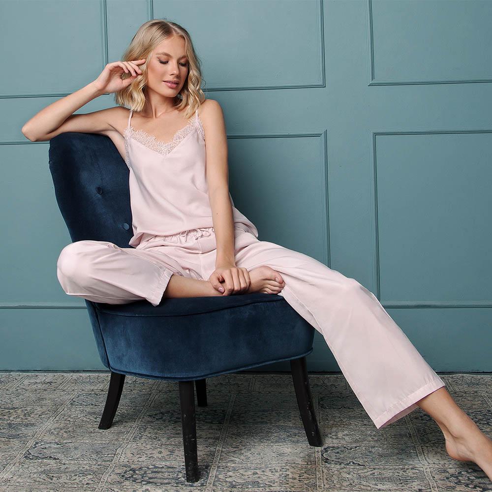Pijamale dama Danny 2 piese, pantaloni lungi