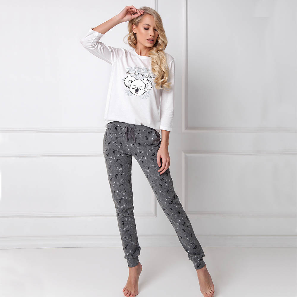 Pijamale dama Kaila 2 piese, pantaloni lungi
