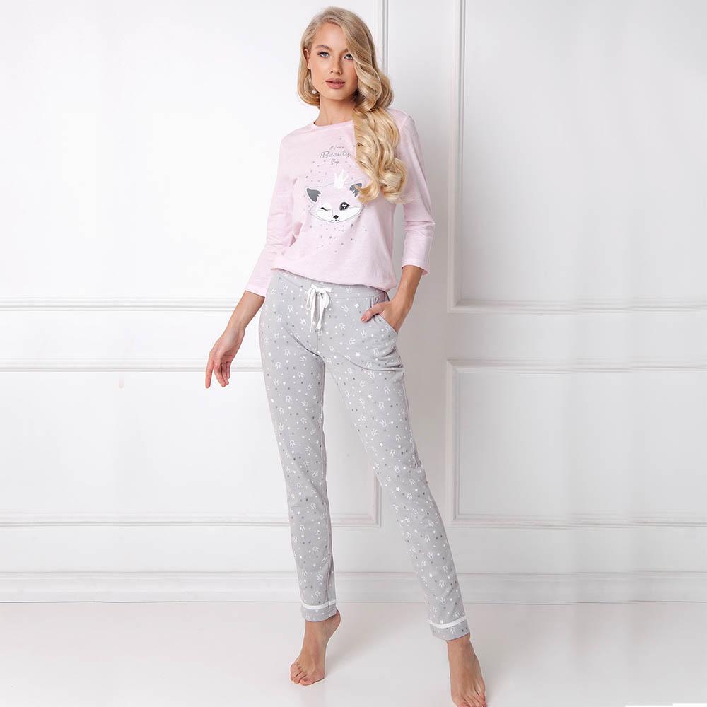 Pijamale dama Therry 2 piese, pantaloni lungi