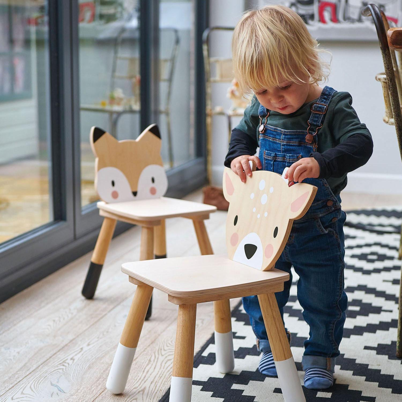 Scaunel din lemn pentru copii, Caprioara