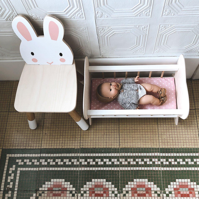 Scaunel din lemn pentru copii, Iepuras