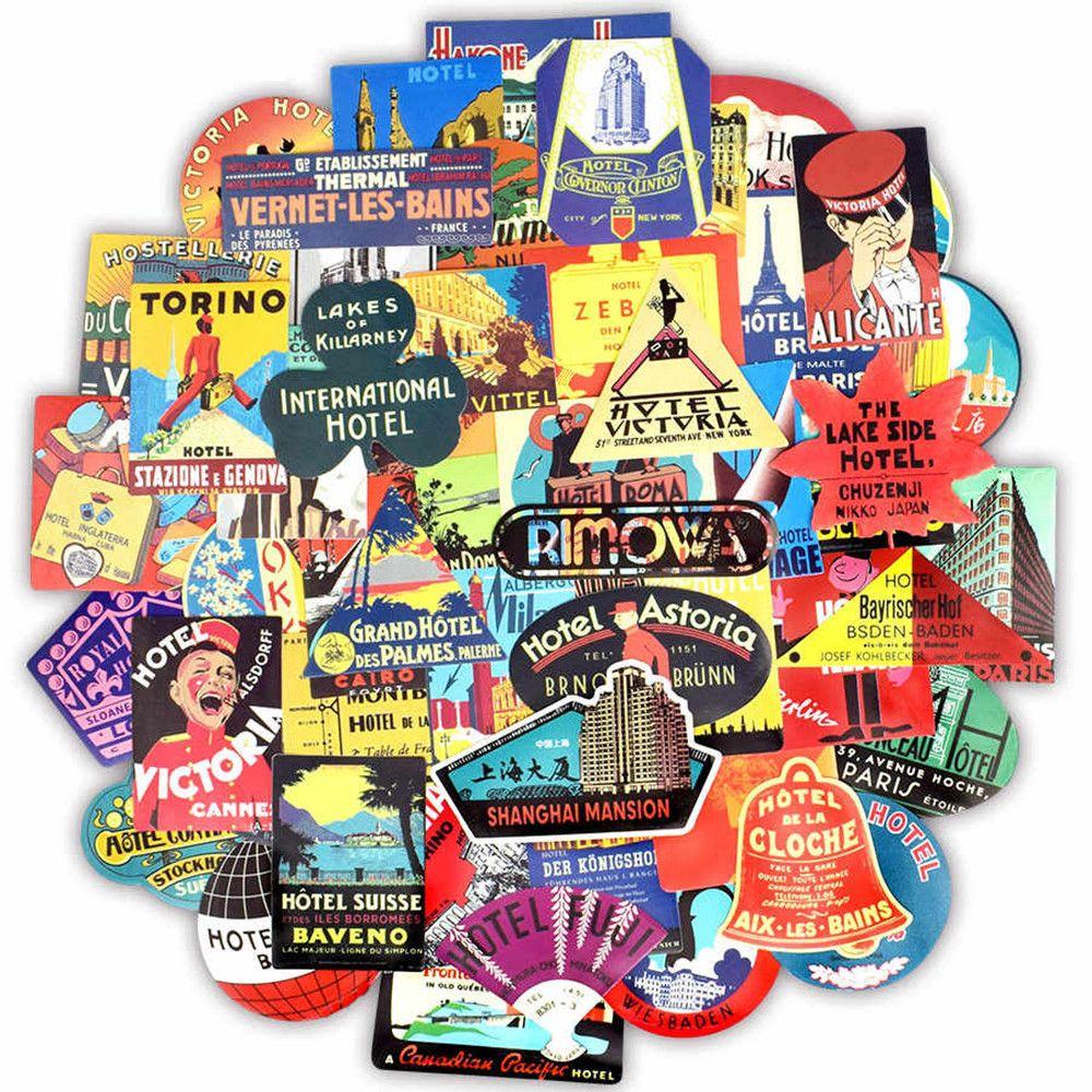 Set 56 stickere laptop Travel Addict