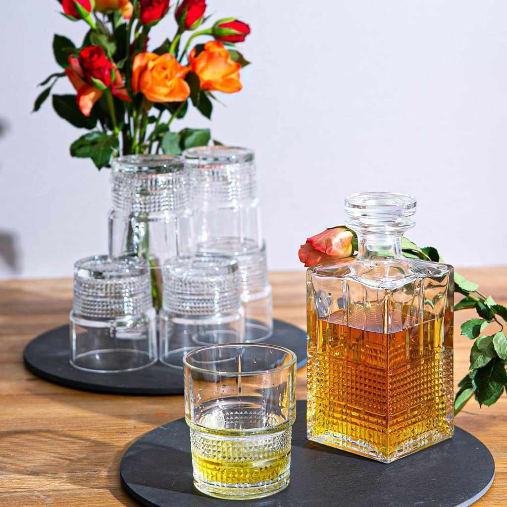 Set cadou decantor Sticla cu sase pahare Novec