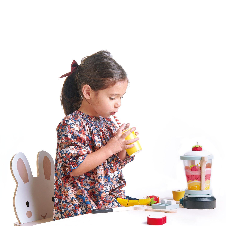 Set jucarii din lemn Blender pentru fructe, 22 piese