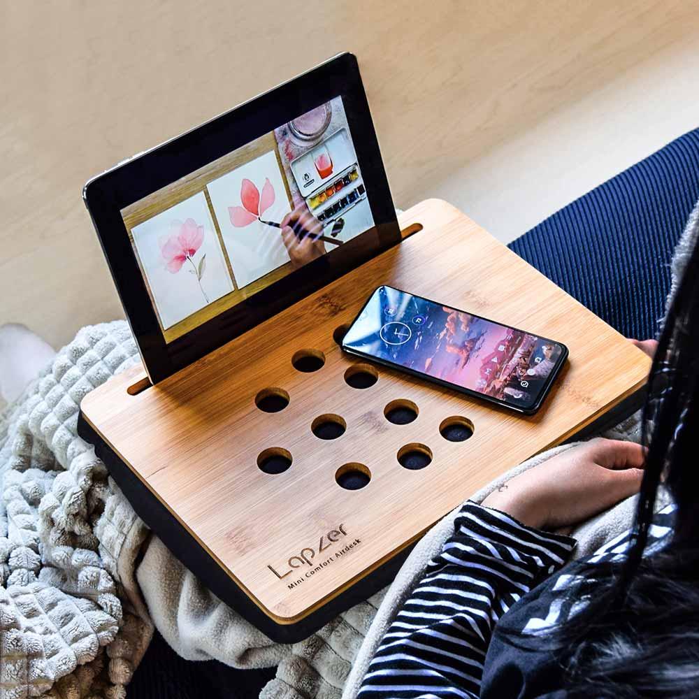 Suport bambus pentru tableta Mini Lapzer