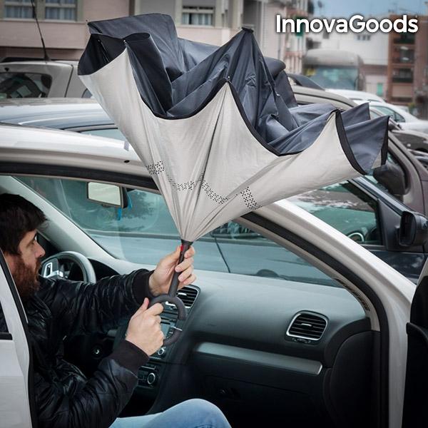 Umbrela cu pliere in sus