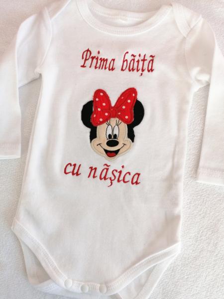 Body personalizat Prima Băiță Minnie Mouse [0]