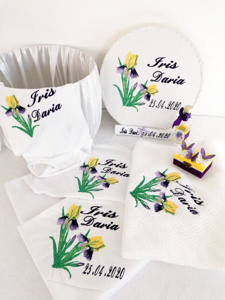 Trusou botez personalizat Floare de Iris [4]
