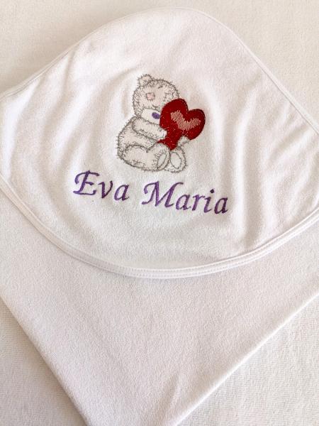 Trusou botez personalizat 8 piese Bear in Love [1]