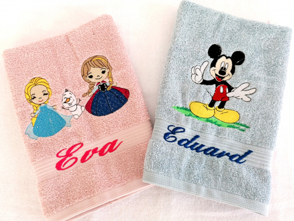 Prosop personalizat pentru gradinita Elsa si Anna [1]