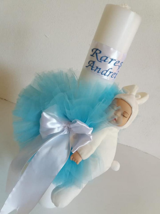 Lumanare botez personalizata Sleepy Babies [0]