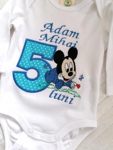 Body bebe personalizat Mickey Mouse [0]