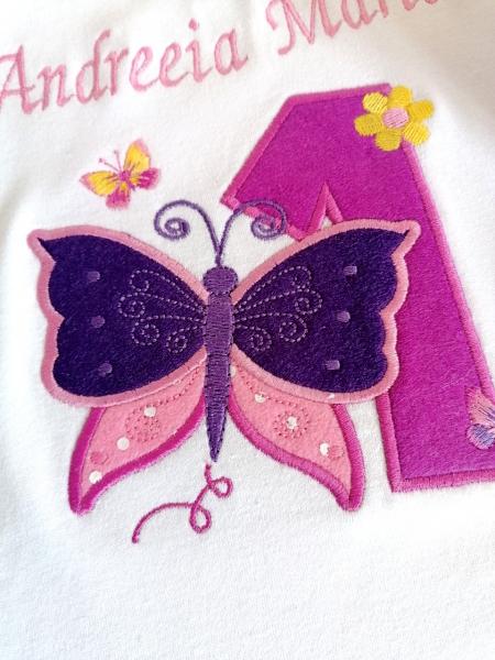 Body bebe personalizat Butterfly, pentru fetite [1]