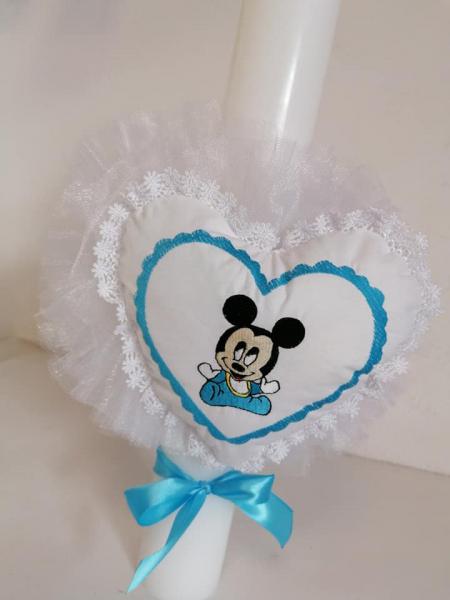 Lumanare botez personalizata Angel Heart [1]