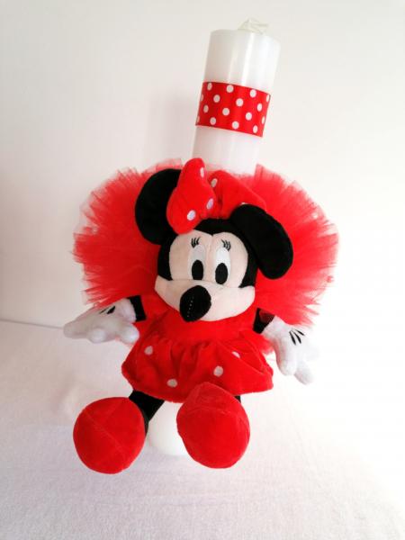 Lumanare botez personalizata Minnie Mouse 0