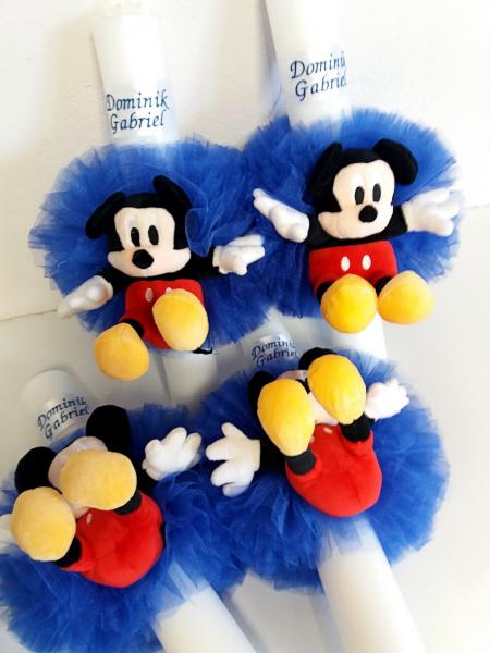 Lumanare botez personalizata Mickey Mouse 0