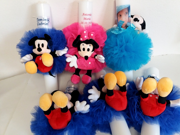 Lumanare botez personalizata Mickey Mouse 1