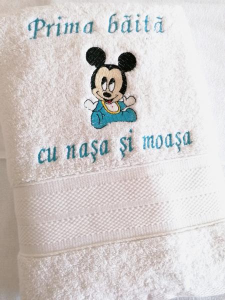 Prosop personalizat prima baita Mickey Mouse 140 x 70 cm [0]