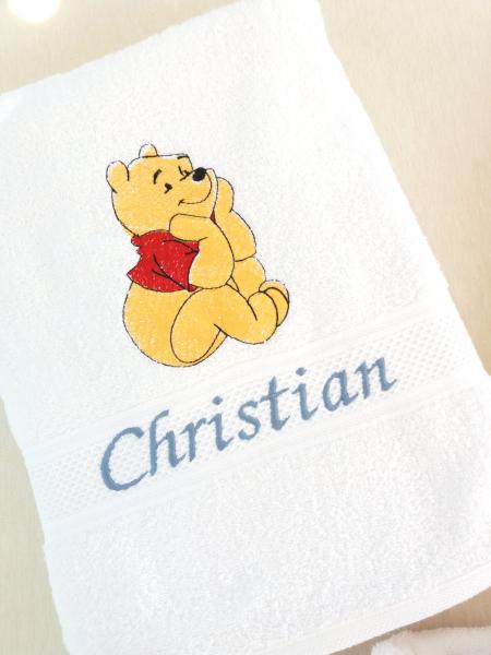 Prosop botez personalizat Happy Bear 140 x 70 cm [0]