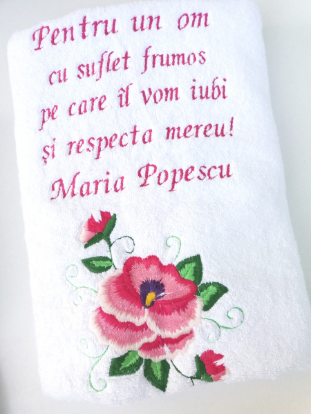 Prosop personalizat cu dedicatie 140 x 70 cm [0]