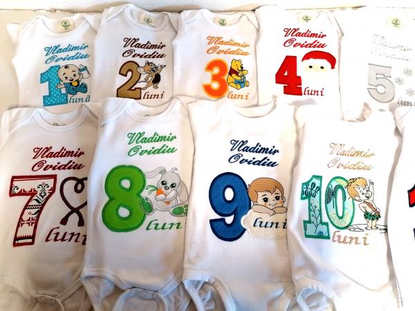Set 12 body-uri aniversare personalizate pentru baieti [1]