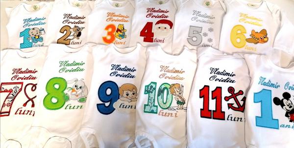 Set 12 body-uri aniversare personalizate pentru baieti [2]