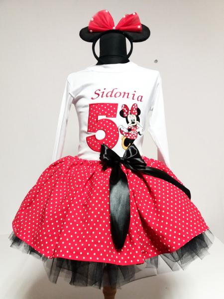 Set TuTu personalizat Red Minnie Mouse [0]
