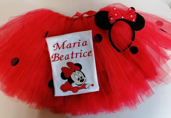 Set TuTu personalizat Minnie Mouse Ladybug [2]