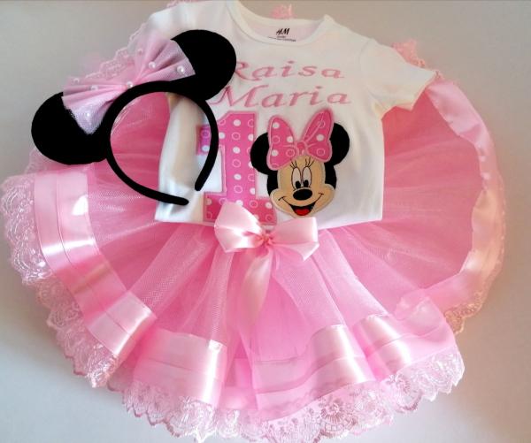 Set TuTu personalizat 1 an Minnie Mouse [0]