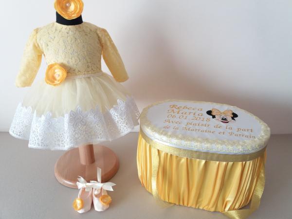 Trusou botez personalizat Gold Minnie [0]