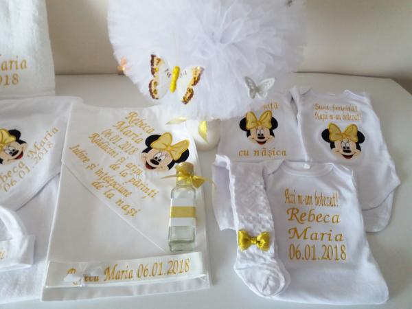 Trusou botez personalizat Gold Minnie [1]