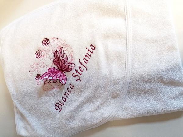 Trusou botez personalizat 6 piese Butterfly Burgundy [1]
