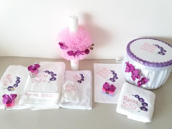 Trusou botez personalizat Orhidee [1]