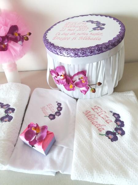 Trusou botez personalizat Orhidee [0]