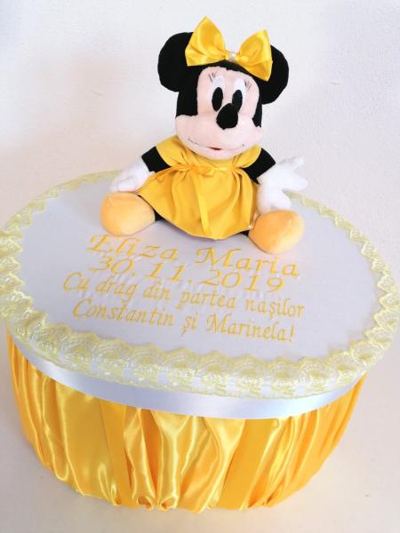 Trusou botez personalizat Yellow Minnie [5]