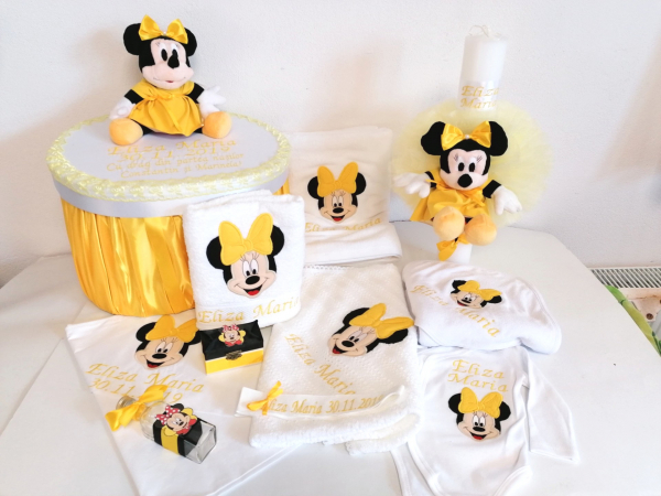 Trusou botez personalizat Yellow Minnie [0]