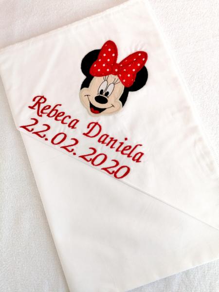 Trusou botez personalizat 6 piese Minnie Mouse [1]