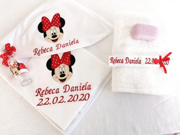 Trusou botez personalizat 6 piese Minnie Mouse [0]