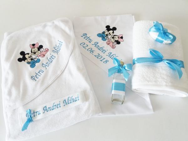 Trusou botez personalizat 6 piese Mickey & Minnie [0]