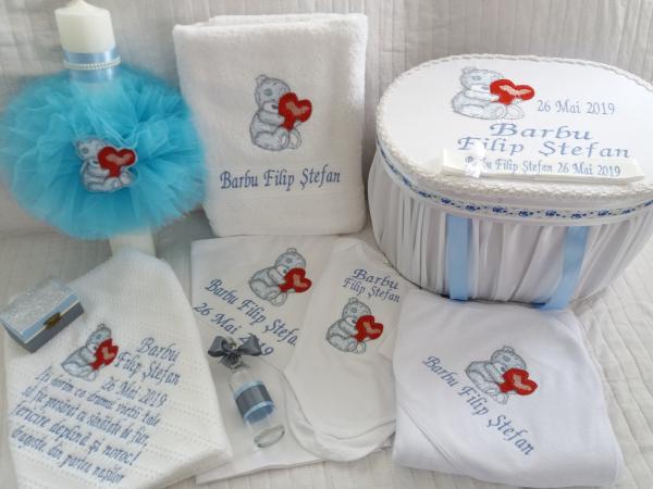 Trusou botez personalizat Bear in Love [2]
