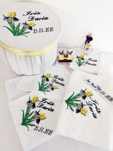 Trusou botez personalizat Floare de Iris [0]