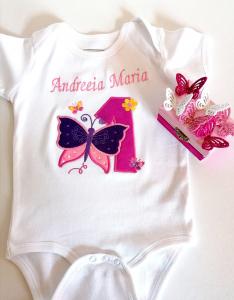 Body bebe personalizat Butterfly, pentru fetite [0]