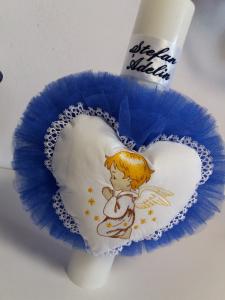 Lumanare botez personalizata Angel Heart [0]