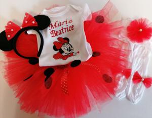 Set TuTu personalizat Minnie Mouse Ladybug [0]