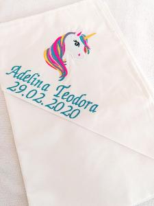 Trusou botez fetite 8 piese Unicorn [3]