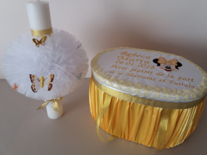 Trusou botez personalizat Gold Minnie [2]