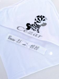 Trusou botez personalizat 6 piese Zebra [3]